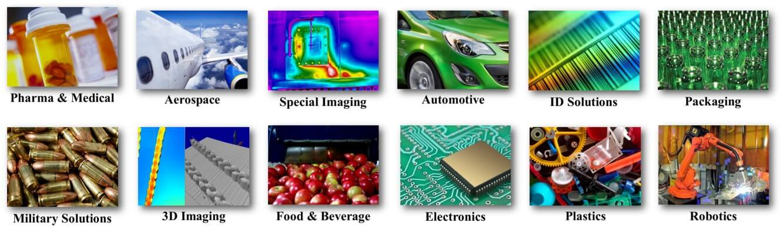 machine vision industries served