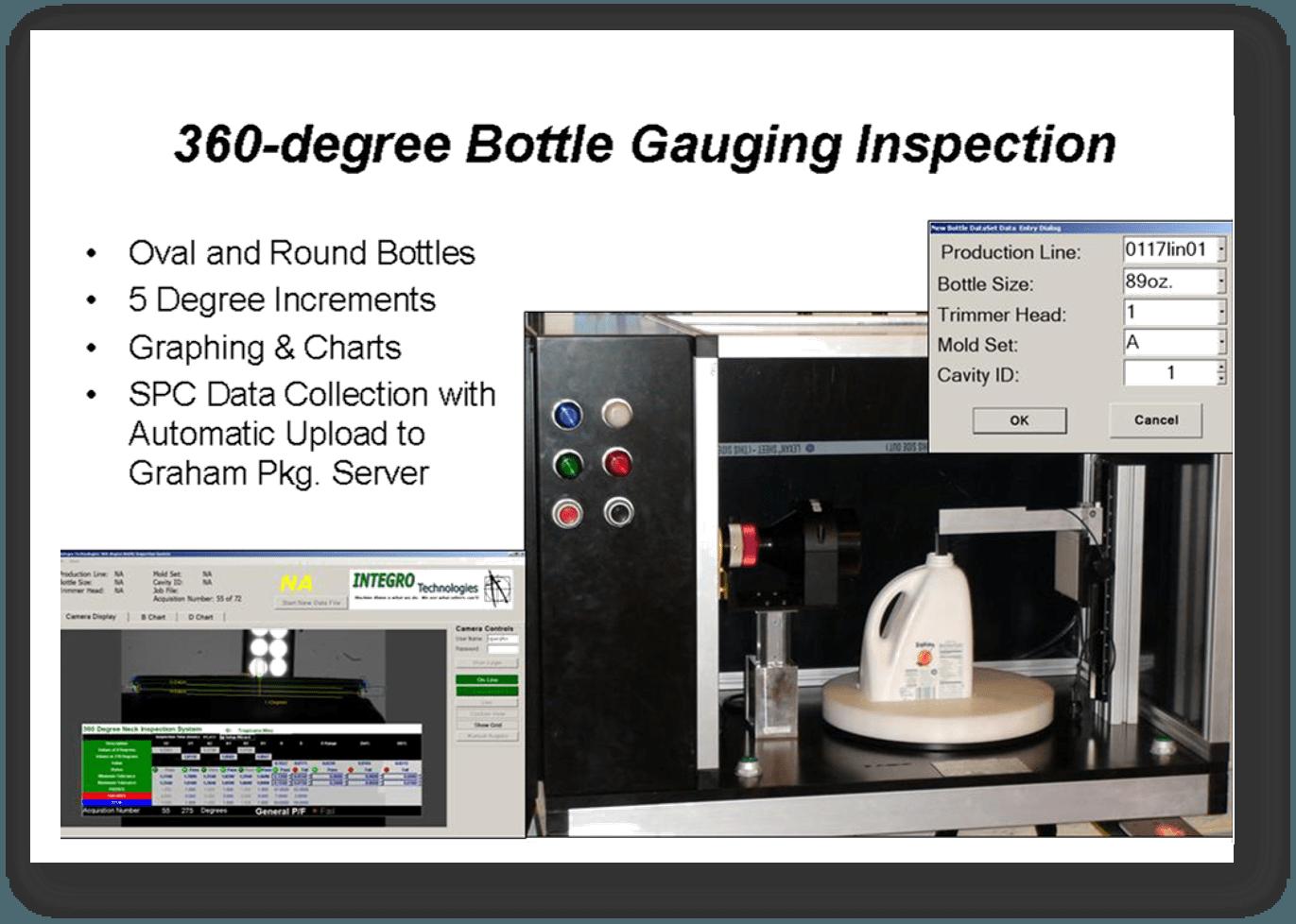 360 Degree Bottle Gauging Inspection