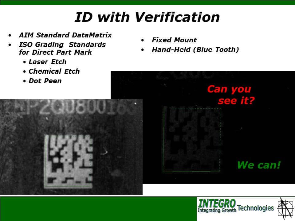Verification with ID Datamatrix