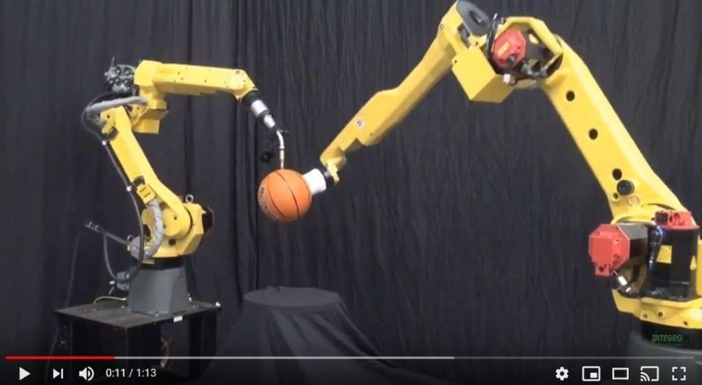 FANUC Robots Coordinated Basketball Dance