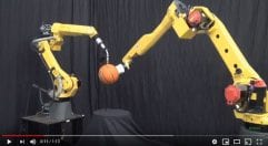 FANUC Robots Coordinated Basketball Dance